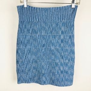 BCBG Max Azria Bandage Stretch Simone Skirt Blue